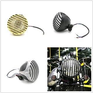 Motorrad Scheinwerfer Überbackene Für Harley Bobber Choppers Cafe Racer