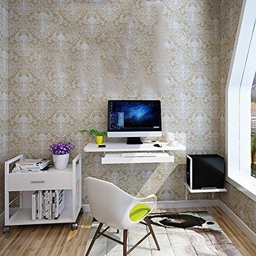 Tables FEI Mur Accrochant De Bureau D'ordinateur Approprié Au Petit Appartement Noir, Bleu, Brun, Blanc, Bois (Couleur : Blanc)
