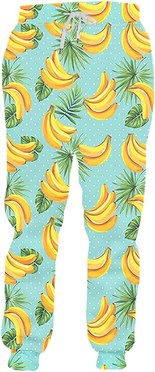 Faxkjeuls 3D Pants Men's Banana Print Casual Sweatpants Fruit Casual Harajuku Sweatpants Super Size