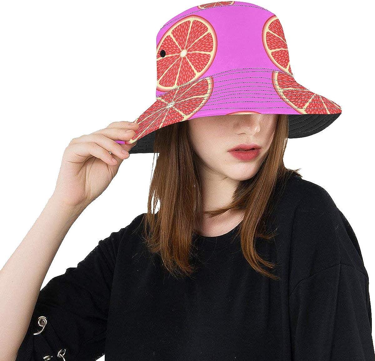 Unique Bucket Hat Grapefruit Miami Mall Elegant Fashionable Vitamin Packable Casual