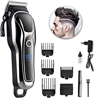 Clippers for Men Cordless, Hair Clipper, LCD Screen, Low Noise, One-Button Switch, Hanging Hole Design, Used for Men, the ...