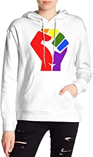 VJJ AIDEAR Fisttransparent LGBT Women's Sweater Printed Hoodied Long Sleeve Coat