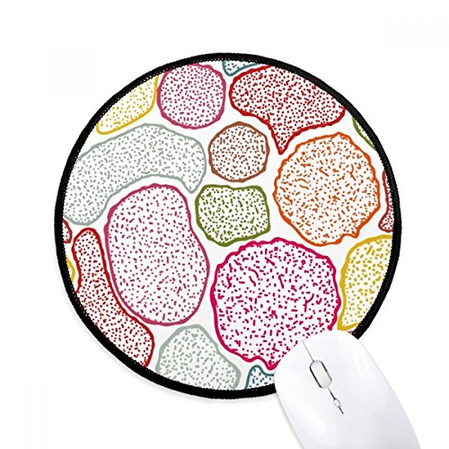 Colorful Microscope Cells Structure Biological Mouse Pad Desktop Office Round Mat for Computer