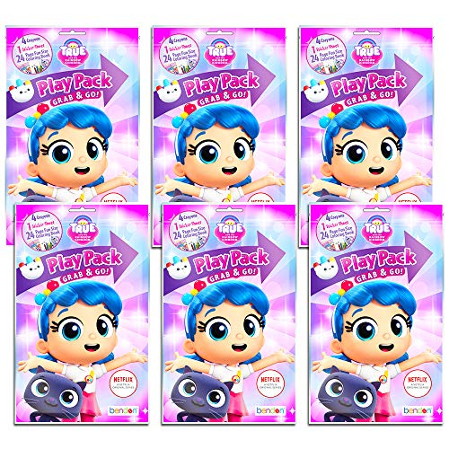 True and The Rainbow Kingdom Party Favors Pack ~ Bundle of 6 Play Packs Filled with Stickers, Coloring Books, and Crayons (True and The Rainbow Kingdom Party Supplies)