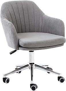 Escritorio ergonómica silla giratoria Silla de oficina con respaldo medio Silla de escritorio giratoria ergonómica con soporte lumbar y esponja acolchada de emulsión suave Sillas de trabajo para com