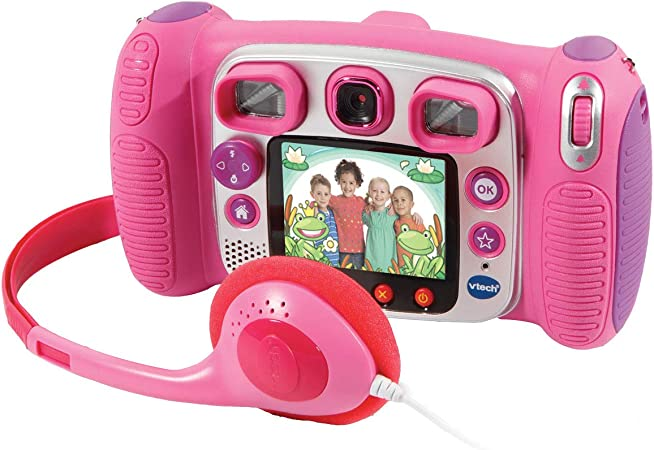 VTech Kidizoom Duo 5.0 - Cámara de fotos digital, infantil con 5 megapíxeles, pantalla a color, juguete para aprender en casa, 10 funciones ...
