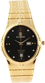 Analog Stainless Steel Watch For Men by Olivera, OG2270