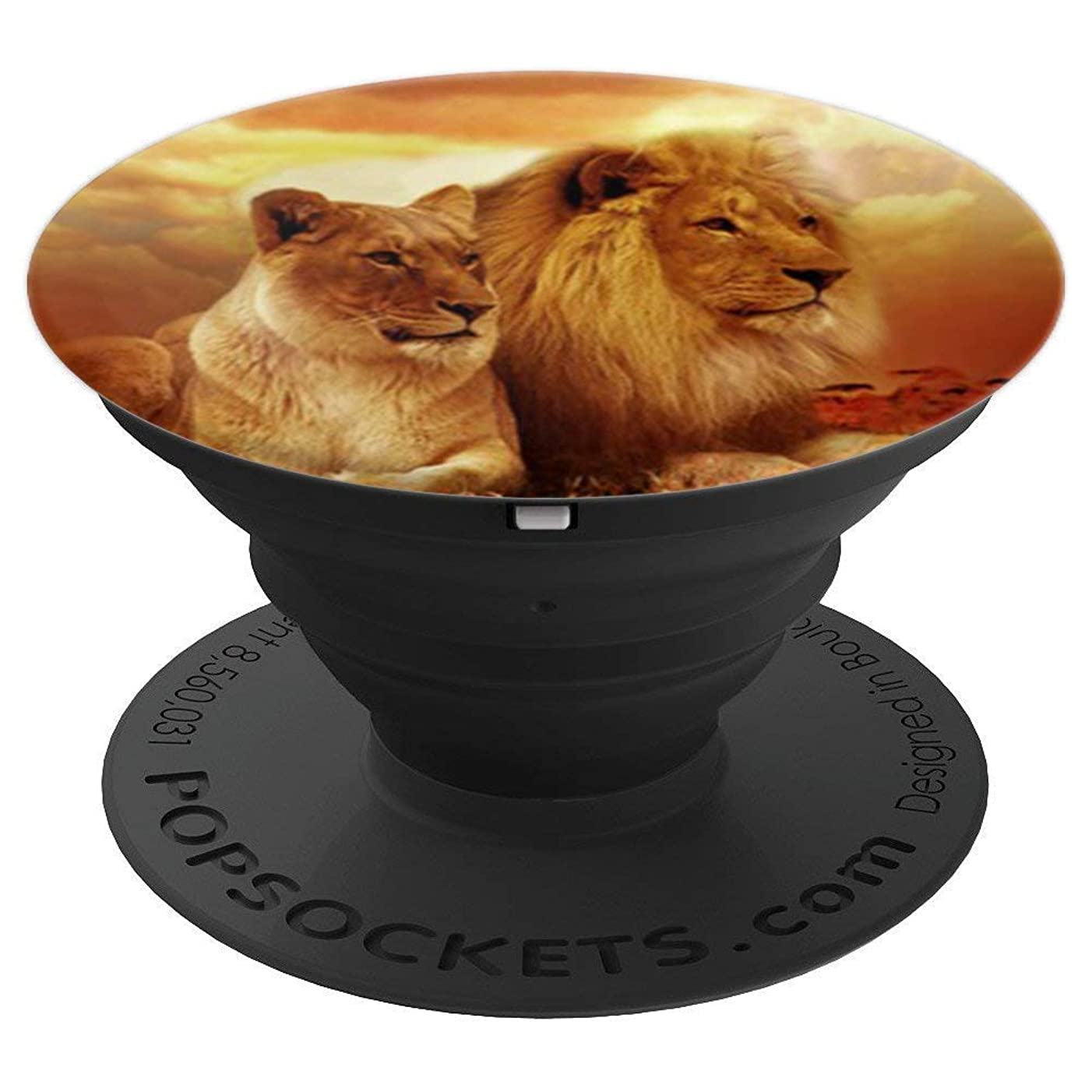 Lion and Lioness - PopSockets Grip and Stand for Phones and Tablets