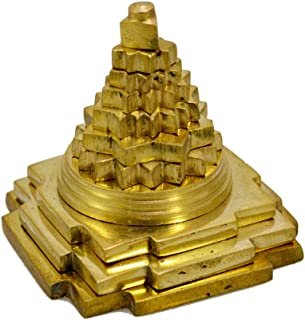 Amazingindiaonline Brass Meru Shree Yantra Shri Laxmi Yantra Lakshmi Yantra 5.5cm Pooja Artical