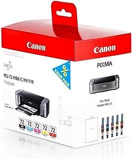 Original Canon 6402B009 / PGI 72 Tinten Multipack (BK,C,M,Y,R, Inhalt 5 x 14 ml) für Pixma Pro 10