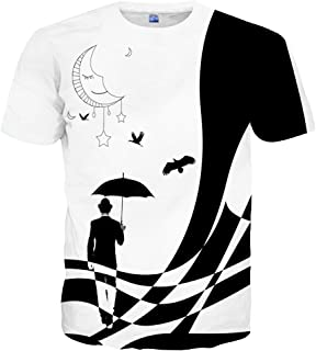 Neemanndy Unisex 3D Colorful Print Graphic Tee Shirts for Men Women and Teens