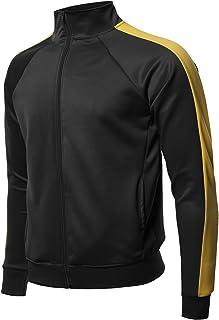 Style by William Men's Premium Quality Shoulder Panel Zip-Up Track Jacket
