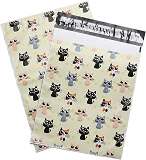 Metronic 100 Pack 12x15.5 Lovely Kittens Shipping Bags Printed Poly Mailers Envelopes with Self Adhesive Waterproof and Tear-Proof Mailing Bags