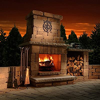 Necessories Colonial Outdoor Fireplace in Santa Fe