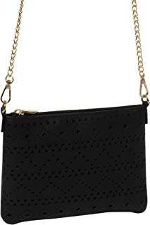 Black Punchout Peta Crossbody Bag
