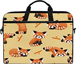 HAIIO Laptop Bag Case Cute Red Panda Animal Bamboo Computer Protector Bag 14-14.5 inch Travel Briefcase with Shoulder Stra...