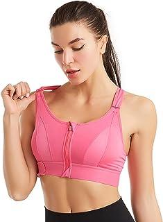 XINSTAR Soutien-gorge de sport ultra ajusté, résistant aux chocs, confortable pour femme, soutien de l'entraînement, yoga,...