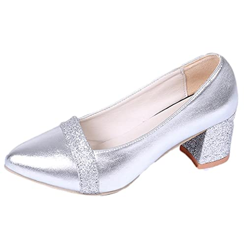 be69f6029c2 OverDose Women Elegant High Heel Pointed Shoes Casual Shoes Wedding Shoes