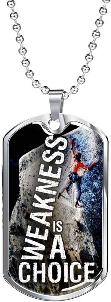 Express Your Love Gifts Max 65% OFF Weakness Necklace is Cheap mail order specialty store Choice A Stainless