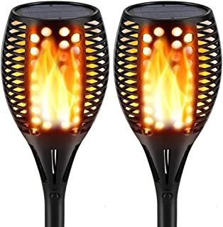 Topmante Upgraded Solar Lights 96 LED 42.9 Inch, Waterproof Flickering Flames Torches Lights Outdoor Solar Spotlights Landscape Lighting Dusk to Dawn Auto On/Off Security Torch Light (2 Pack)