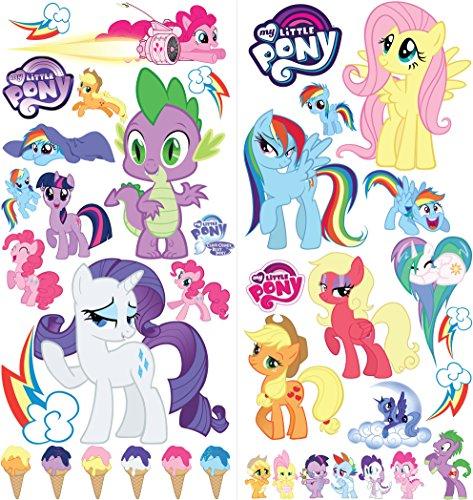 Adesivi murali My Little Pony Cartoon per camere da letto decalcomanie per bambini e ragazzi Dimensioni: Largo 76 cm X 72 cm