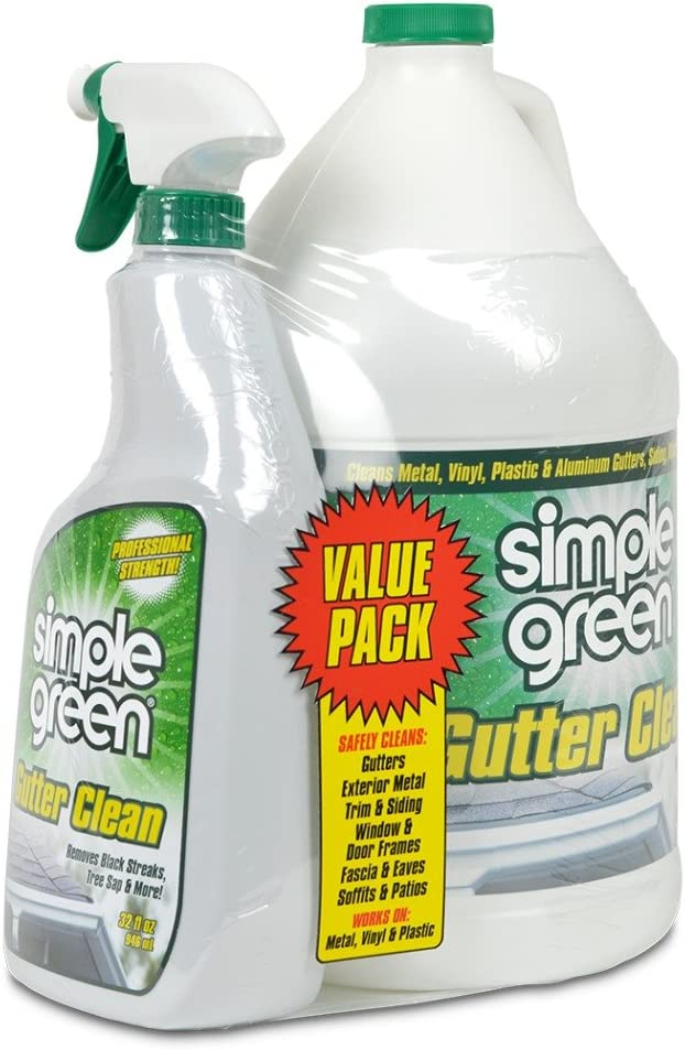 Sale item SIMPLE GREEN Gutter Cleaner - Removes Sacramento Mall Stains from Dirt Mi Mold