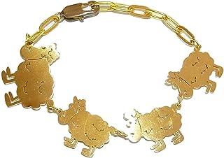 『 羊の群れ ブレスレット 』【 Imported Band 】 アクセサリー ジュエリー かわいい 羊 ひつじ 動物 アニマル ナチュラル 可愛い メルヘン