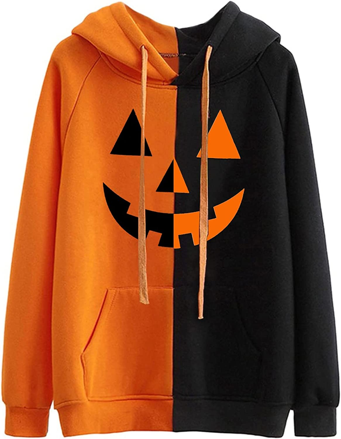 Complete Free Shipping POTO Sweatshirt National products for Women Halloween Pumpkin Graphic Hoodies Face