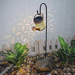 Star Shower Garden Art Light, Outdoor Solar Watering Can Flash Light Decoration with Bracket, Solar Watering Can Fairy Lig...