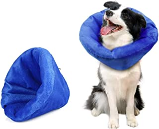 365Home Protective Inflatable Collar for Dogs and Cats Cone Collar Soft Pet Recovery Collar for After Surgery Anti-bite Li...