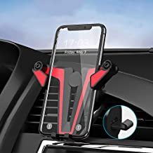 Hzrfun Car Phone Mount, Air Vent Cell Phone Holder for Car Universal Auto-Clamping Gravity Car Phone Holder Compatible with iPhone Xs Max/XR/Xs/X/8 Plus/8/7 Plus/7, Galaxy S10/S9/S8/Note and More