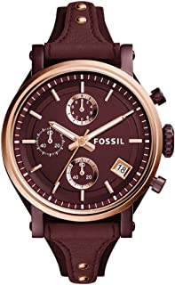 Fossil Women's Analog-Quartz Watch with Leather Calfskin Strap