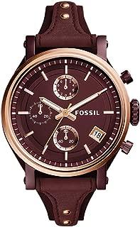 Fossil Women's Analog-Quartz Watch with Leather Calfskin Strap ES4114