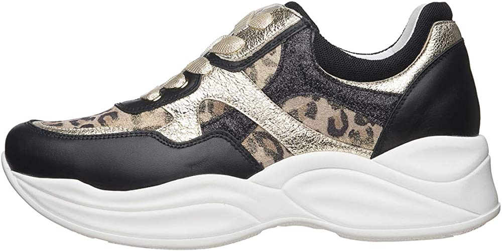 Nero giardini sneaker donna pelle/tela E010594D 100