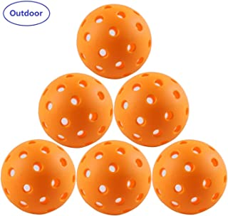 IUZIT Outdoor Pickleball Balls 40 Holes Specifically Designed for Pickleball Sport, High-Vis Optic Orange/Yellow Pickleballs for Outdoor & Indoor Use