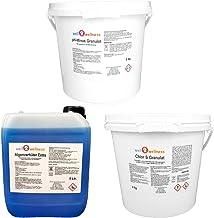 well2wellness Pool Set de Inicio Tratamiento del Agua 5 Piezas Plus 1 X 125g Nophos + 2 X 90g Floculante Dpool Gel