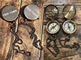 PORTHO Your Tommy Your Tubbo Dual Compass Gift Set   2 Brass Compasses Engraved with Special Quote   Great Gamer Gift - MCYT, Dream SMP, TommyInnit Fanart