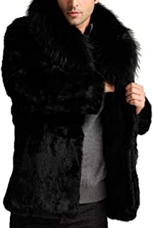 Men's Winter Warm Maxi Full Sleeve Faux Fur Coat Overcoat Parka Jacket