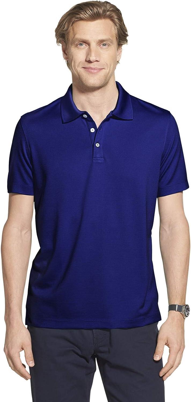 Geoffrey Beene Men's Slim Fit Short Sh Solid Sleeve Rare 5 popular Polo Ottoman