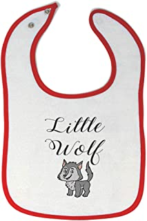 Toddler & Baby Bibs Burp Cloths Little Wolf Funny Humor Wild Animals New Cotton Items for Girl Boy Woodland Gifts Ag White...