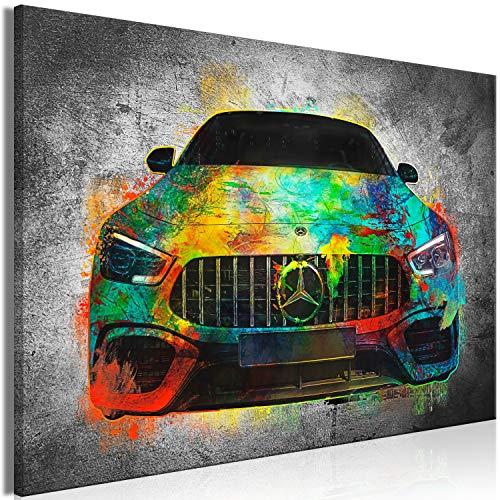 murando - Bilder Auto 90x60 cm Vlies Leinwandbild 1 TLG Kunstdruck modern Wandbilder XXL Wanddekoration Design Wand Bild - Abstrakt Beton Car i-A-0167-b-a