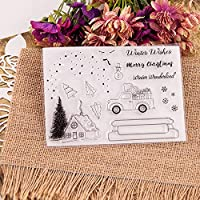 DIYスクラップブッキング/カード作成/キッズクリスマスデコレーション用品用の雪の季節のクリアシリコンスタンプ人気のA2067