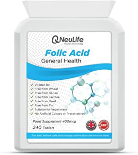 Ácido Fólico 400mcg - 240 Comprimidos - Neulife Salud y Fitness