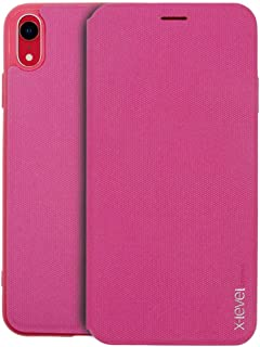 X-Level FIB Card Case Cover Compatible for Apple iPhone XR, 6.1 Inch - Pink