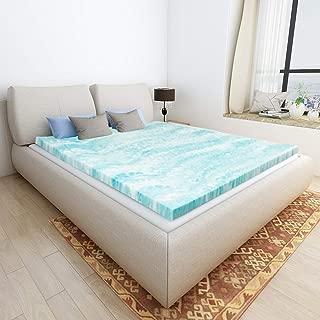Mattress Topper King, Gel Memory Foam Mattress Toppers for King Size Bed, 2 Inch