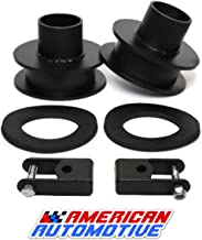 American Automotive F250 F350 Superduty Front Leveling Lift Kit 4WD Made in USA 'Road Fury' Carbon Steel Coil Spring Spacers (Set of 2) (2