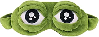 Frog Eye Mask for Sleeping Creative Cartoon Fluff Eyeshade Funny Gift Anime Green