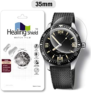Smartwatch Screen Protector Film 35mm for Healing Shield Prime Curved Flat Wrist Watch Analog Watch Glass Screen Protection Film (35mm) [3PACK]