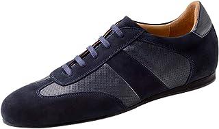 Werner Kern 28061 - Zapatillas de baile para hombre, piel de ante azul, normal, tacón de 1 cm, fabricadas en Italia