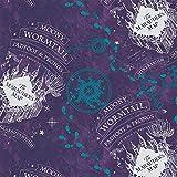 Camelot Harry Potter Flanell-Stoff, 0,5 m violett